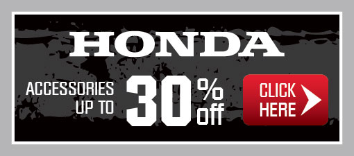 Honda Accessories up to 30% off